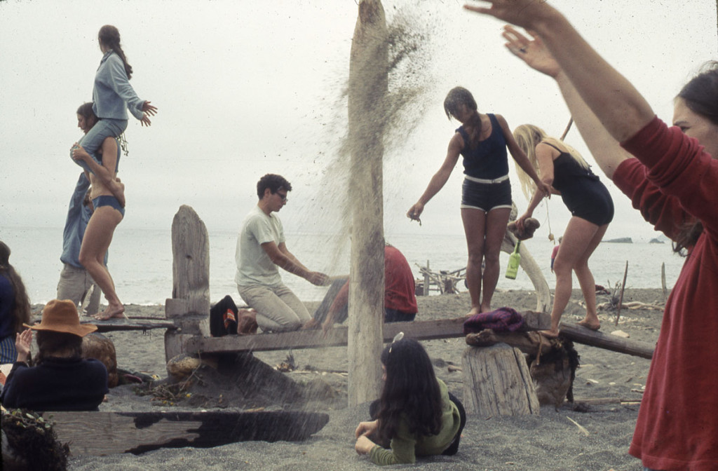 """Driftwood Village—Community,"" Sea Ranch, CA. Experiments in Environment Workshop, July 6, 1968. Courtesy Lawrence Halprin Collection, The Architectural Archives, University of Pennsylvania."
