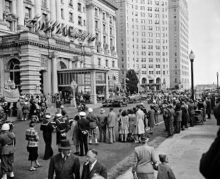 President Truman arrives in San Francisco.