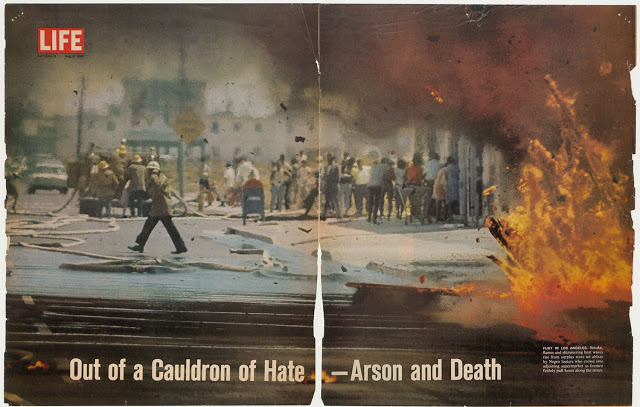 Arson and Street War, Life magazine, August 27, 1965 Courtesy California ephemera collection, UCLA Library Special Collections