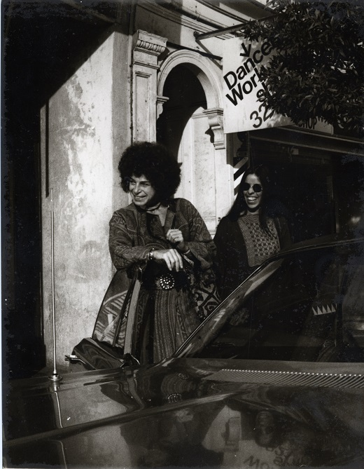Anna Halprin and a Female Performer outside the Dancers' Workshop Studio in San Francisco, 1970 Photographer unknown; Anna Halprin Papers, Museum of Performance + Design