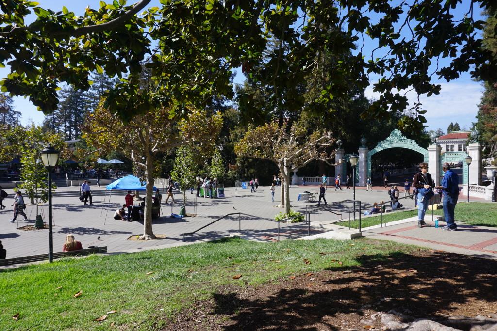 Sproul Plaza, University of California, Berkeley, 2015 Courtesy of Alison Moore