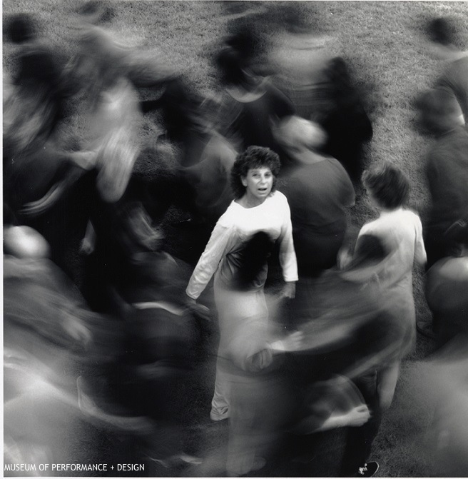 Anna Halprin Surrounded by Dancers in Circle the Earth, c. 1980s Courtesy of the Museum of Performance + Design