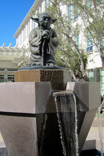 Lawrence Noble (Sculptor), Yoda Fountain, Letterman Digital Arts Center, 2012 Courtesy of Wally Gobetz