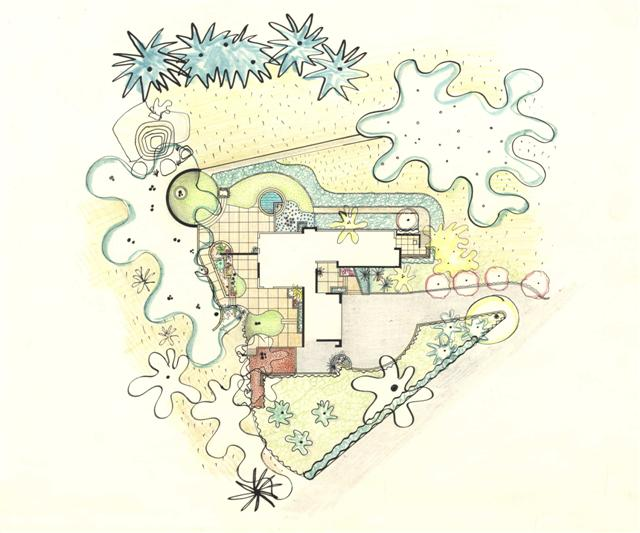 Lawrence Halprin, Strawbridge Garden, Mill Valley Courtesy of the Architectural Archives, University of Pennsylvania