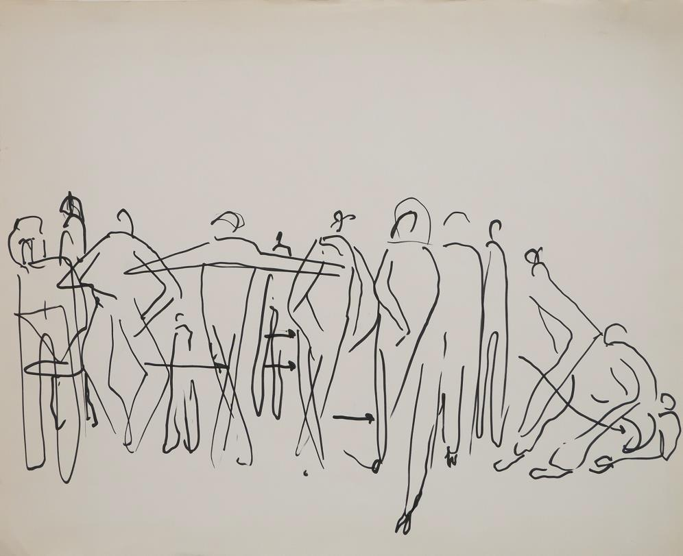 Lawrence Halprin, Movement Study, c. 1976 Courtesy of the Halprin Family and Edward Cella Art & Architecture