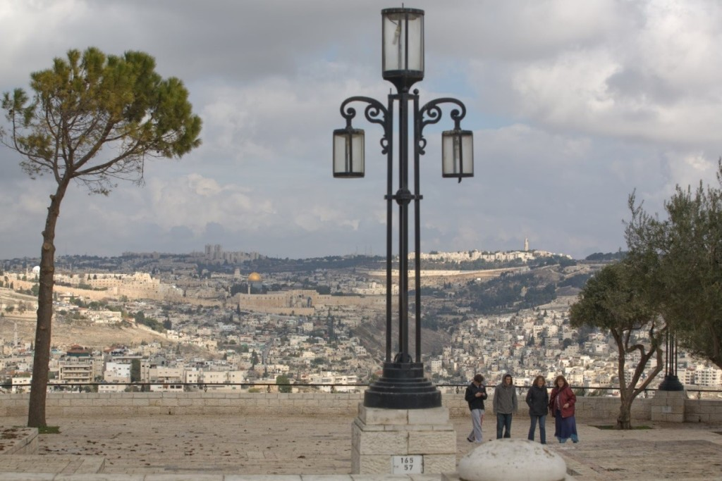 View of Jerusalem from the Stone Walkway of the Haas Promenade Courtesy of NothingLikeTheHolidays.com